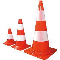Cône de signalisation orange et blanc K5a