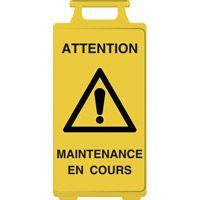 Chevalet de signalisation maintenance en cours
