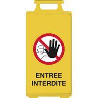 Chevalet de signalisation entrée interdite