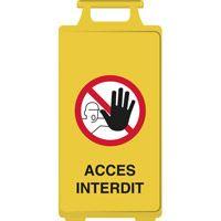 Chevalet de signalisation accès interdit