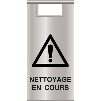 Chevalet signalisation inox nettoyage en cours