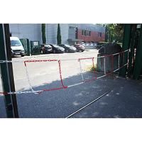 Barrière en chaîne plastique