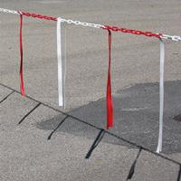 Barrière de chaîne Ø 6 mm avec bandelettes doubles