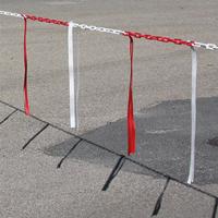 Barrière de chaîne Ø 8 mm avec bandelettes doubles