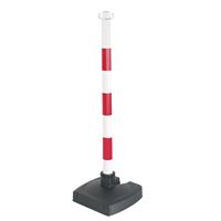 Poteau PVC de signalisation rabattable