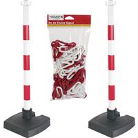 Kit 2 poteaux de signalisation avec chaîne