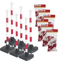 Kit 6 poteaux de signalisation avec chaîne