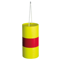 Fardier cylindrique jaune fluo