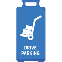 Chevalet bleu Drive Parking