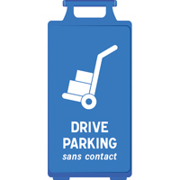 Chevalet bleu Drive Parking sans contact