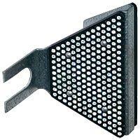 Réflecteur pour glissière de sécurité en acier
