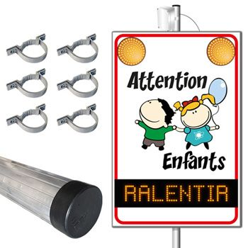 Pack panneau lumineux flash SEP Attention Enfants