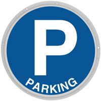 Panneau néon parking
