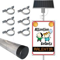 Pack panneau flash solaire Attention Enfants