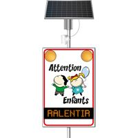 Panneau lumineux dynamique flash Attention Enfants