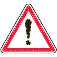 Panneau lumineux à leds danger A14