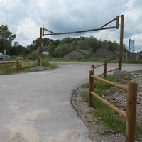 Portique de parking en bois
