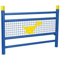 Barrière pour école motif dinosaure