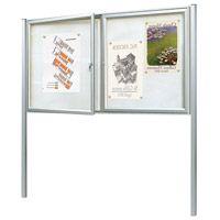 Kit de poteaux pour vitrine d'information