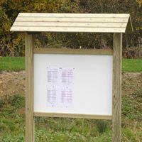 Panneau d'information toit bois