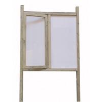 Panneau d'affichage avec demi-vitrine en bois