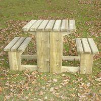 Table de pique-nique en bois Noisetière