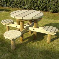 Table de pique-nique en bois Myrtille