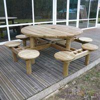 Table de pique-nique en bois Cassis