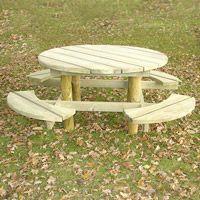 Table de pique-nique en bois Groseille