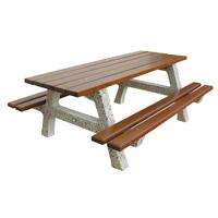 Table de pique-nique Chilloux en béton et bois