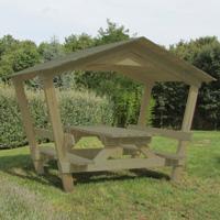 Table de pique-nique Castor avec toit