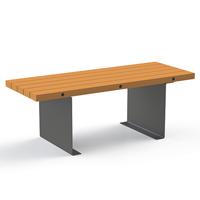 Table en bois et acier Aubans