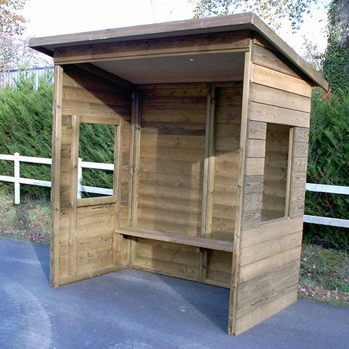 abri bus en bois. Black Bedroom Furniture Sets. Home Design Ideas