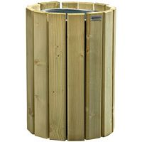 Corbeille ronde en bois 20 litres Eden