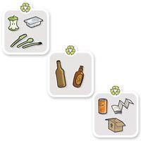 Kit d'autocollants pour tri sélectif