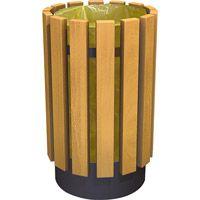 Poubelle Luton en bois Vigipirate