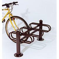 Support range vélo 3 rangées double face