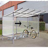 Bardage de fond pour abri à vélos alu et acier