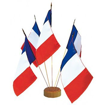 Drapeau de table français