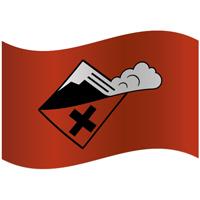 Drapeau de montagne niveau de risque fort