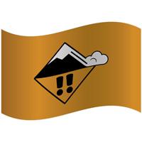 Drapeau de montagne niveau de risque marqué