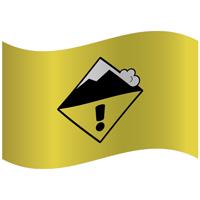 Drapeau de montagne niveau de risque limité