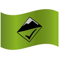 Drapeau de montagne niveau de risque faible