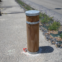 Borne en bois diamètre 28 cm