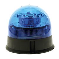 Gyrophare à leds bleu à embase plate