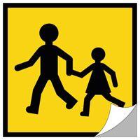 Panneau arrière transport d'enfants