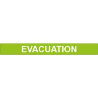 Brassard réfléchissant auto-enroulant évacuation