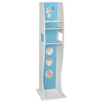 Colonne distributrice de gel avec étagères