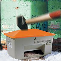 Bac à sel anti-vandalisme