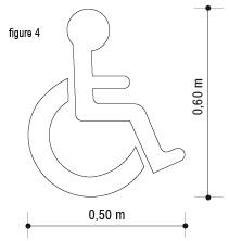 pochoir handicap fauteuil roulant. Black Bedroom Furniture Sets. Home Design Ideas